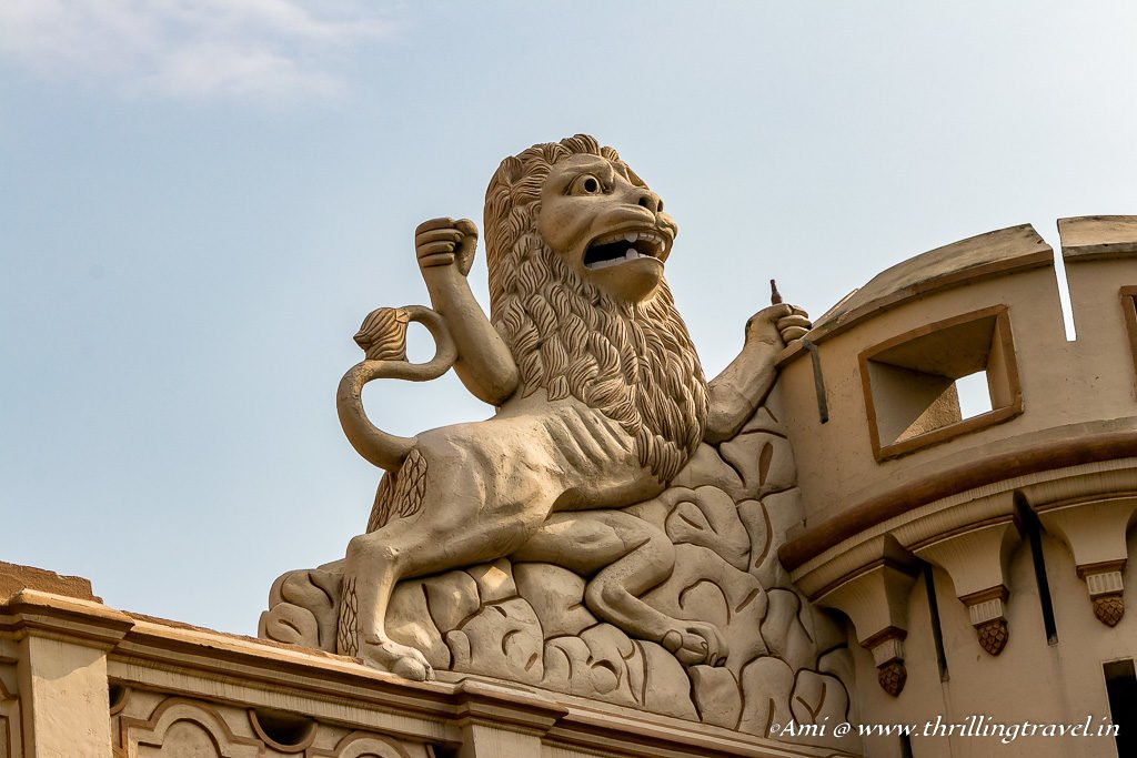Namean Lion sculpted on the roof of Constantia
