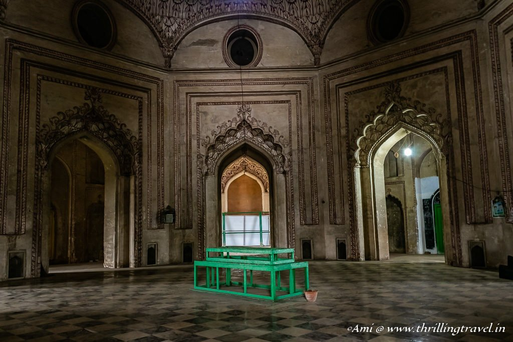The actual grave of the Nawab is below the place marked here.