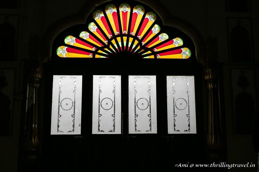 Stained Glass interiors of Safed Baradari