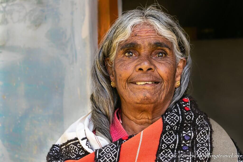 Portrait of a Toda Tribal Woman - Pingalamma