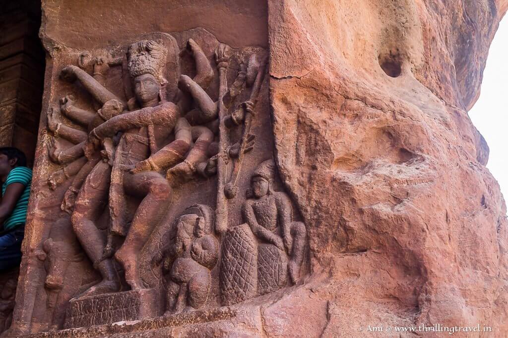 Nataraja in his Tandav pose at Cave 1 in Badami