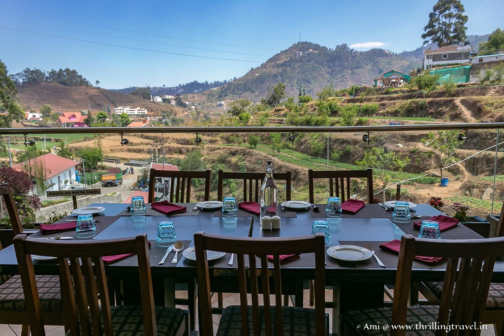 The view from the Restaurant at GRT Hotels, Kodaikanal
