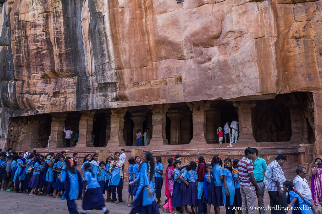 The largest of all Badami Caves - Cave 3