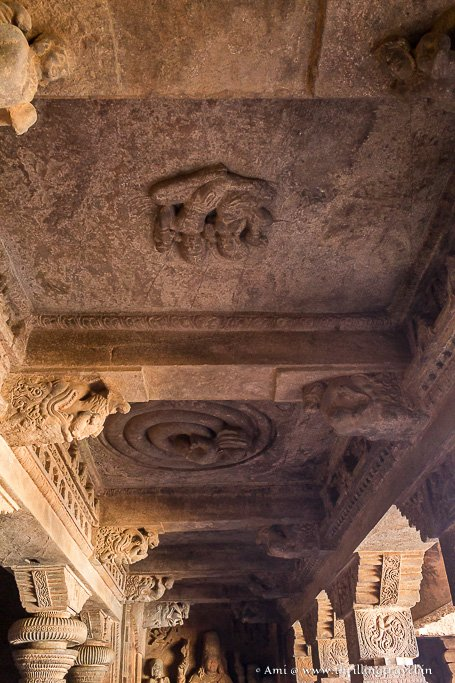 Ceiling of Cave One in Badami