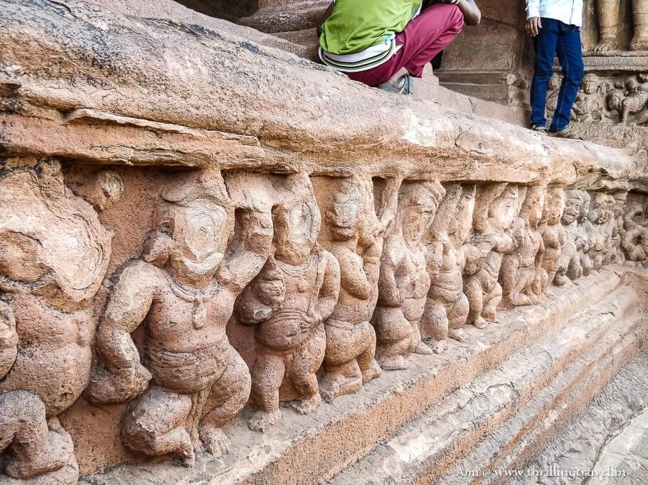 Ganas holding up Badami Caves