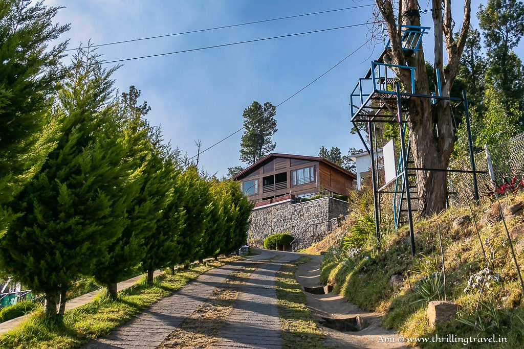 Way to the cabins at GRT Hotels in Kodaikanal