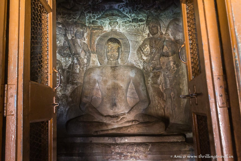 Lord Mahavira in the inner sanctum of Badami Caves