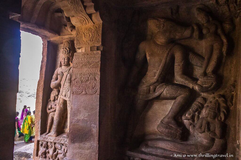 Varaha in Cave 2 of Badami rock cut temples