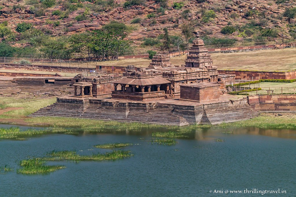 Bhutanatha Temple as seen from Badami Caves