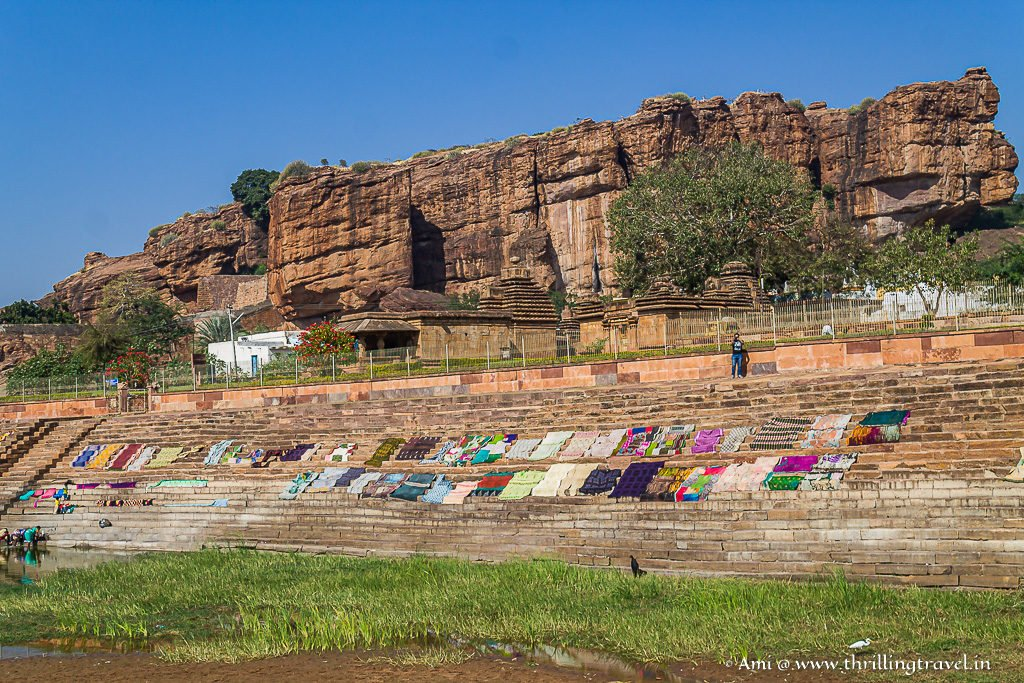 Colorful ghats of Lake Agasthya along Mallikarjuna Temple