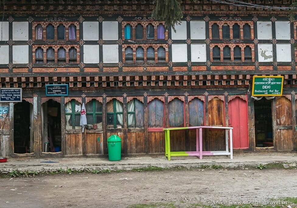 Pretty Bhutanese buildings in Haa