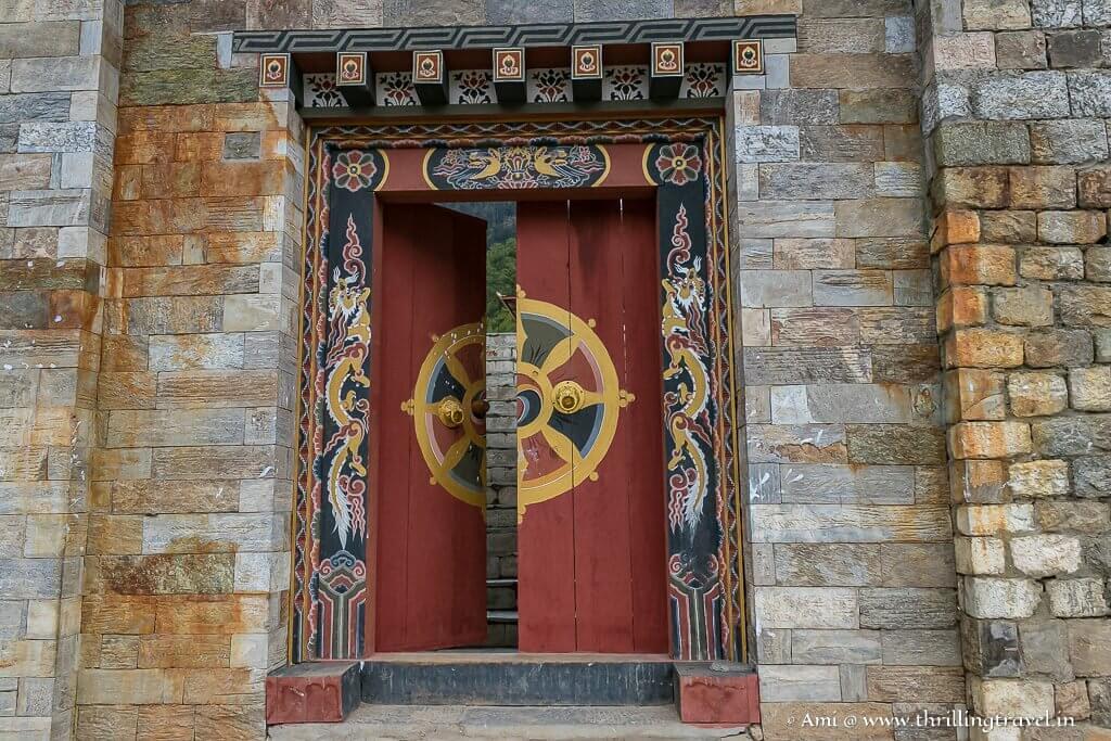 The door to Lhakhang Karpo in Haa