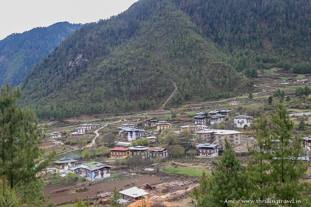 Haa Town as seen from a height