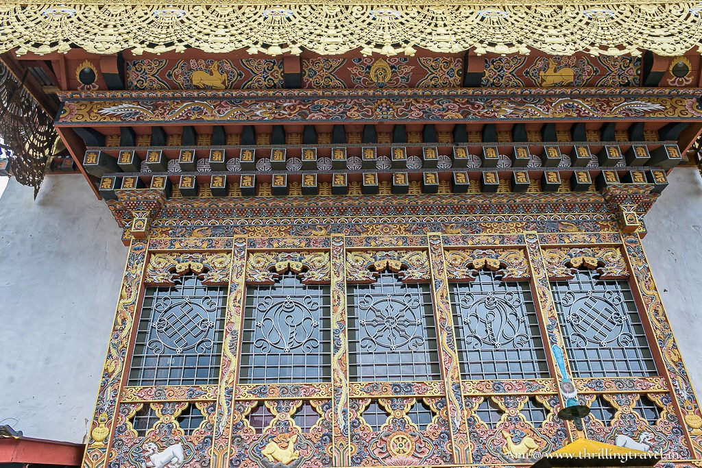 The beautiful architecture of Lhakhang Karpo