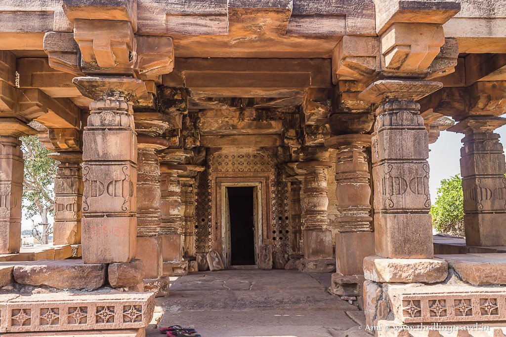 The Shrine pillars and doors of Yallamma Temple