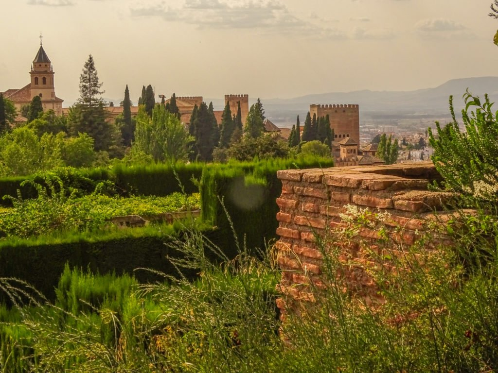 View of the Alhambra from the Genralife