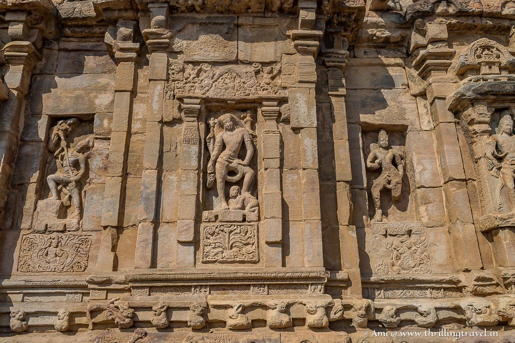 Walls of the Pattadakal Virupaksha Temple