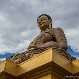 The Buddha Dordenma rising high above Thimphu