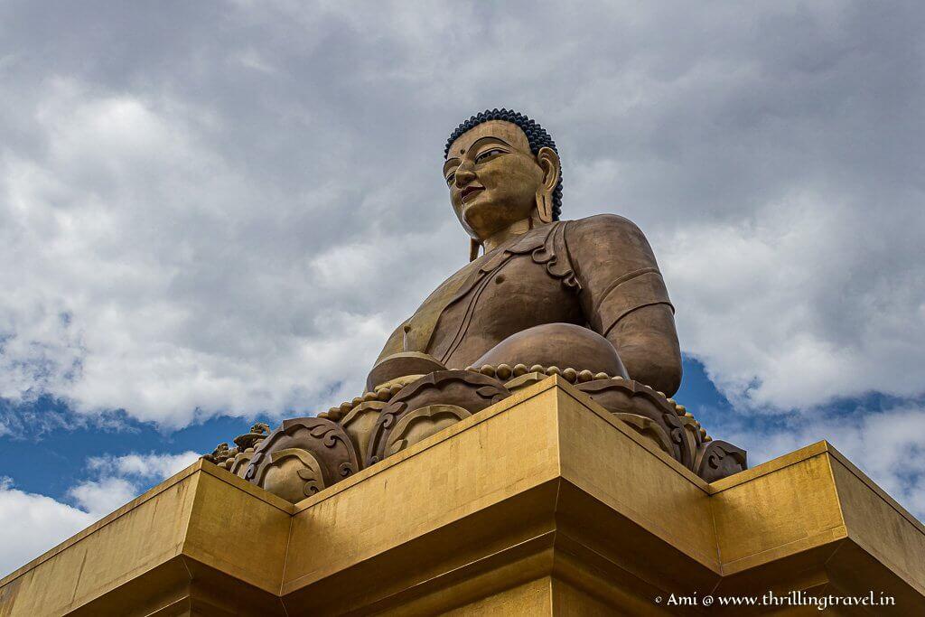 The Buddha Dordenma rising high above Thimphu