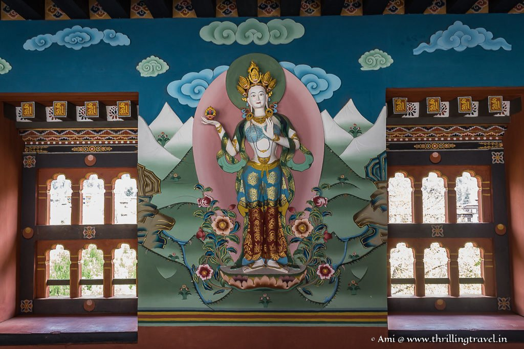 Deity at the entrance of Tashichho Dzong