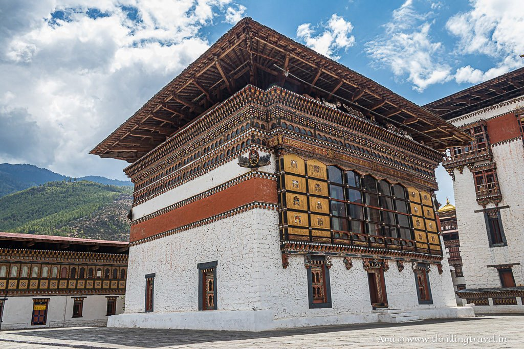 Picturesque setting of the Tashichho Dzong