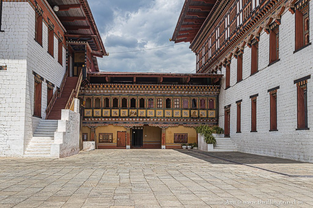The monk quarters at Tashichho Dzong