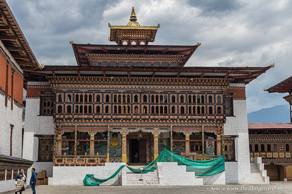 The temple at Tashichho Dzong