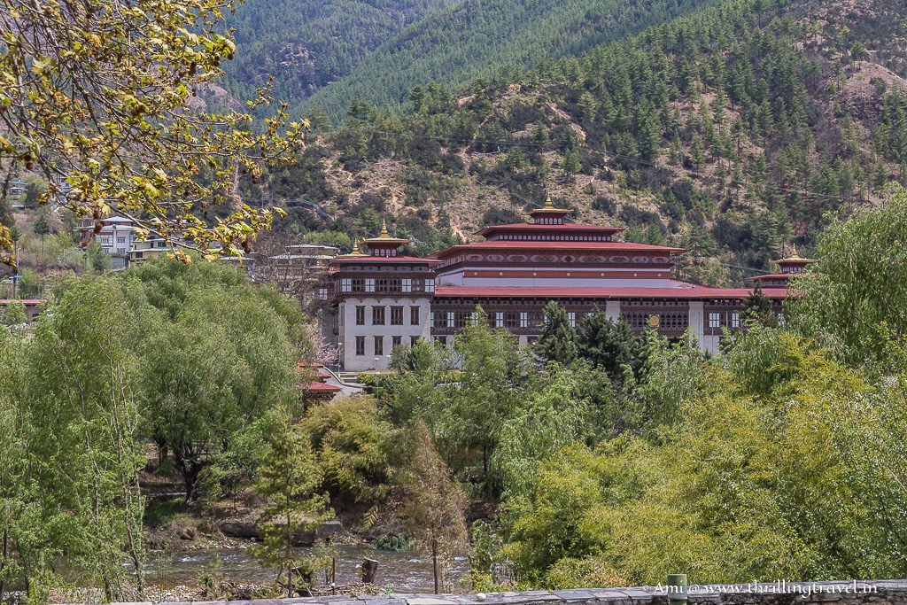 Wang Chhu River by the Thimphu Dzong
