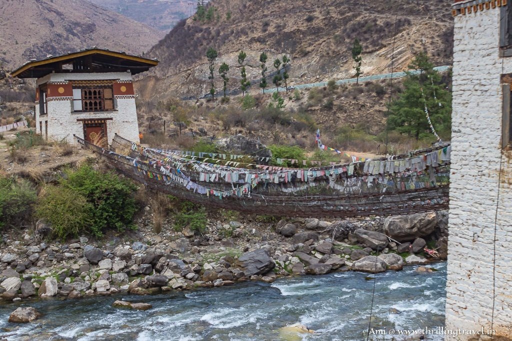 The 600-year-old Bridge connecting to Tachog Lhakhang