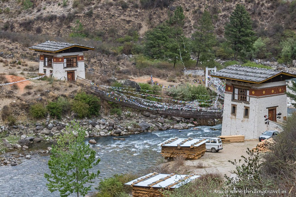 The heritage Iron Bridge between two towers
