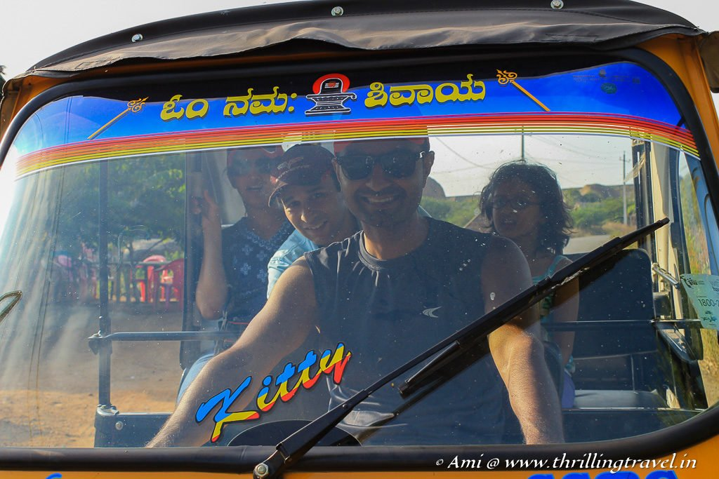 The time when my hubby tried his hand at the Tuk Tuk in Hampi