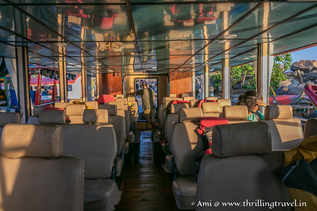 Lower Deck of the Mirissa Whale Watching tour boat