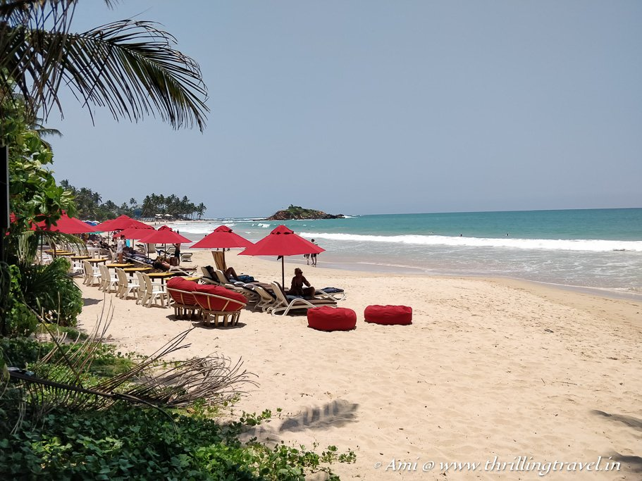 Mirissa beach - the start of our day trip to Galle