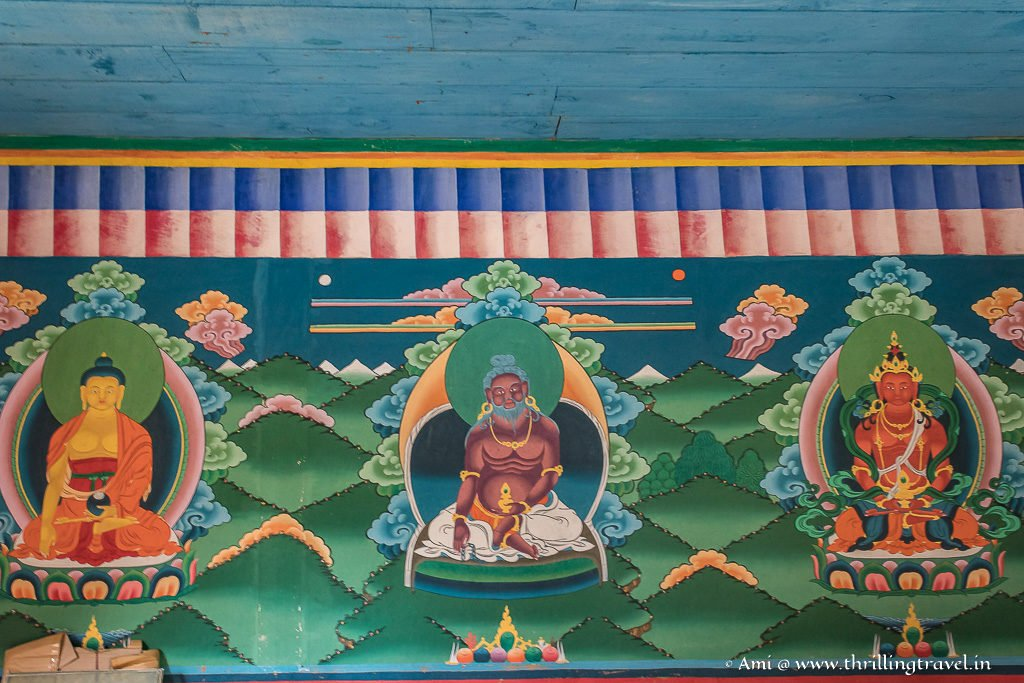 Central painting is that of Thangtong Gyalpo