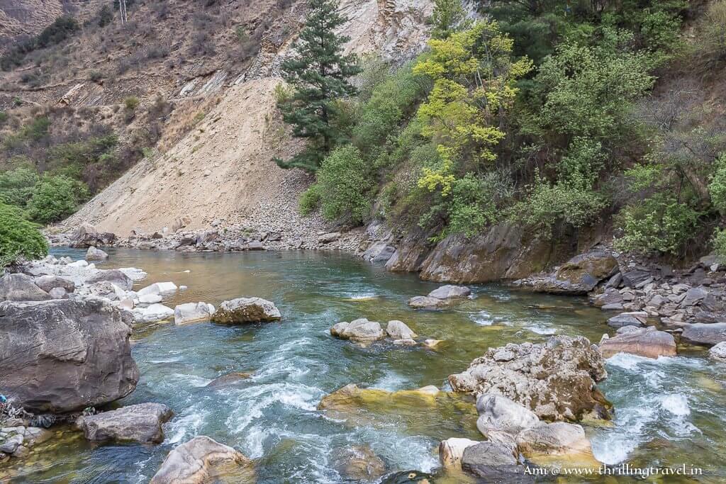 Paro Chhu River in Bhutan