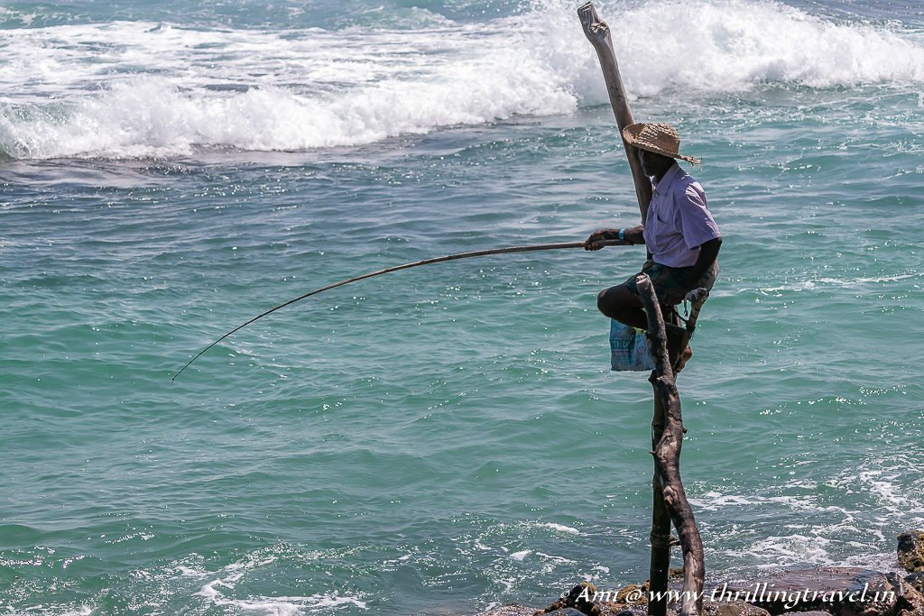 Close up of the Stilt Fisherman