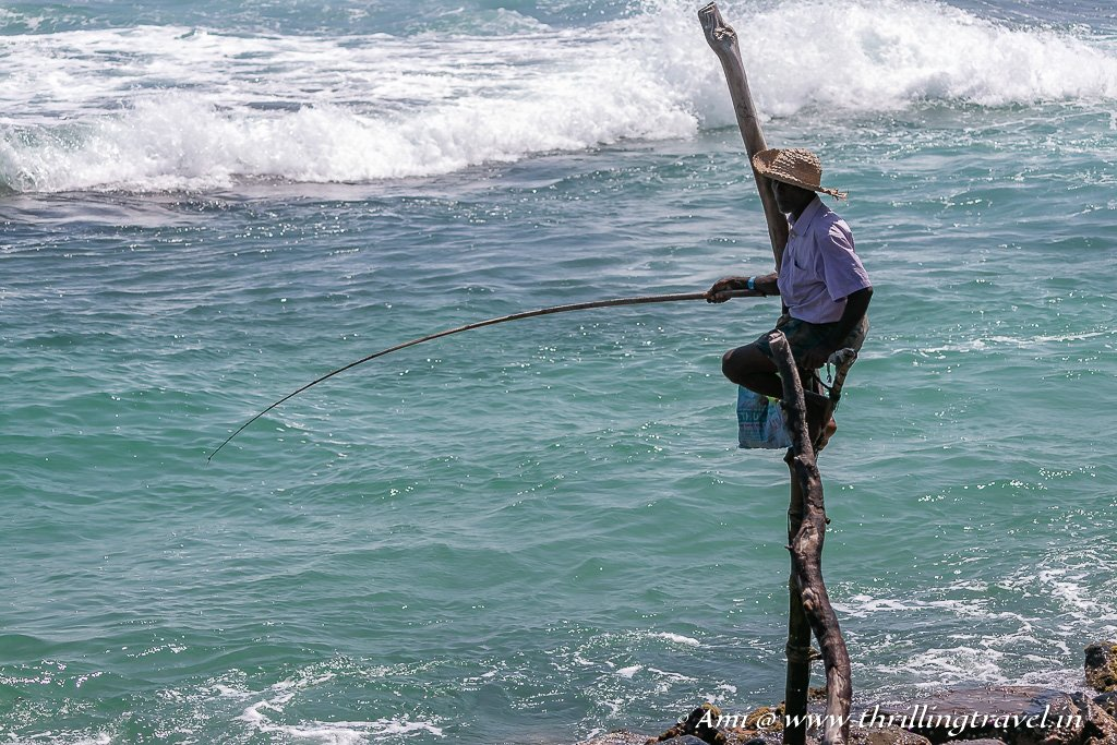 Close up of the Stilt Fisherman