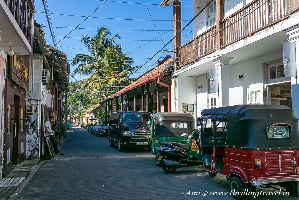 Quaint lanes of Galle Fort