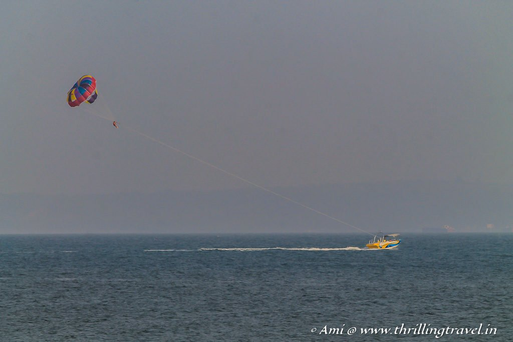 Parasailing - a fun activity on the beach