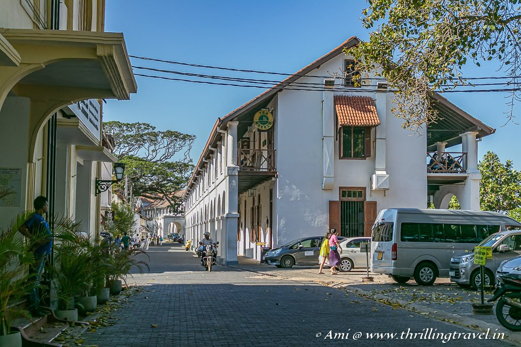 The lane that led to the other points of interest in Galle Fort