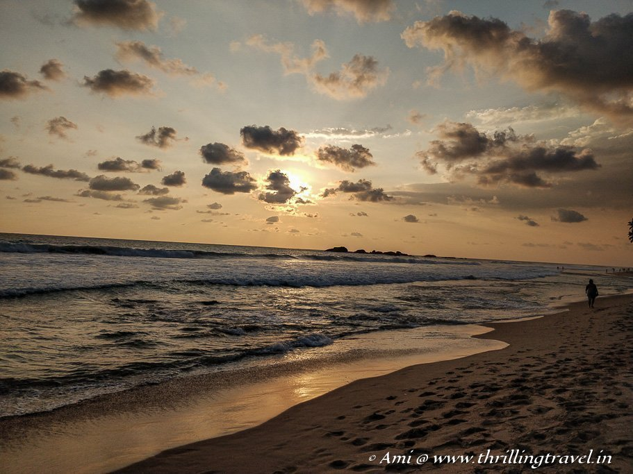 Experience the dramatic sunsets of Hikkaduwa