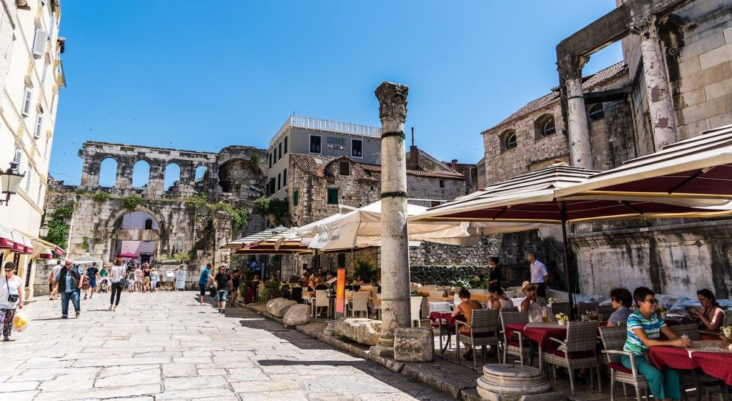 Cafes in the Split Old Town