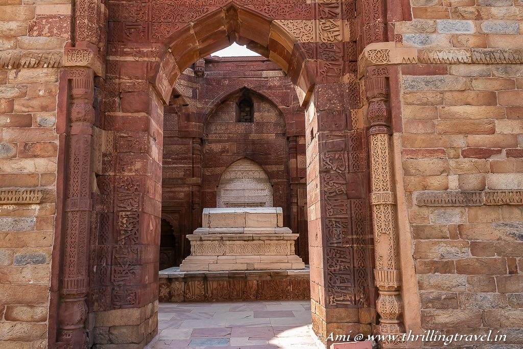 The tomb of Iltutmish in Qutub Minar Complex