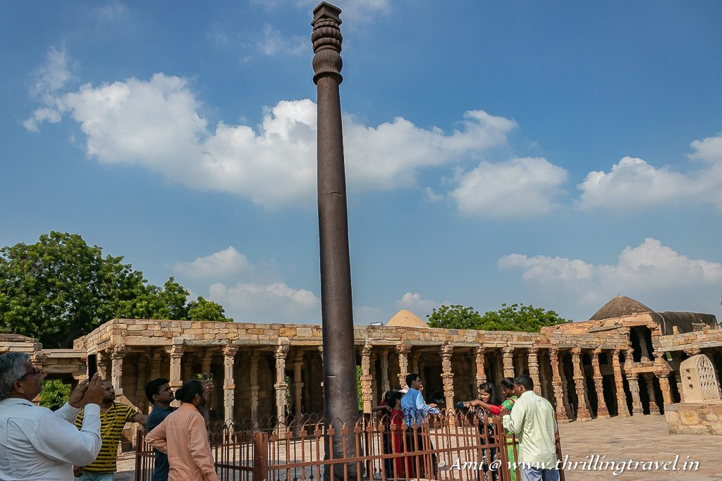 The Iron Pillar at the Qutub Minar Complex