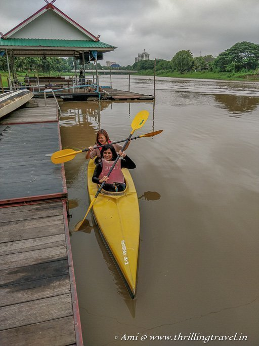 Try kayaking on Ping River in Chiang Mai