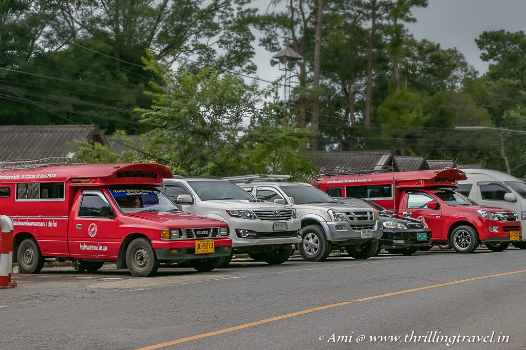 Red Songthaew - the best way to get around Chiang Mai, Thailand
