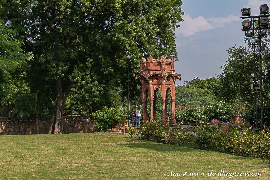 Smith's folly at the exit of Qutub Minar