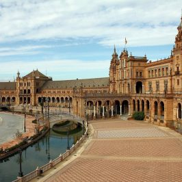 Plaza de espana in Seviile, Spain