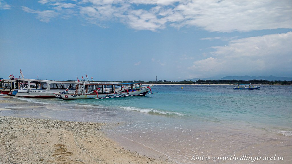 Daily boats are available for a day trip to Gili Islands from Bali or Lombok