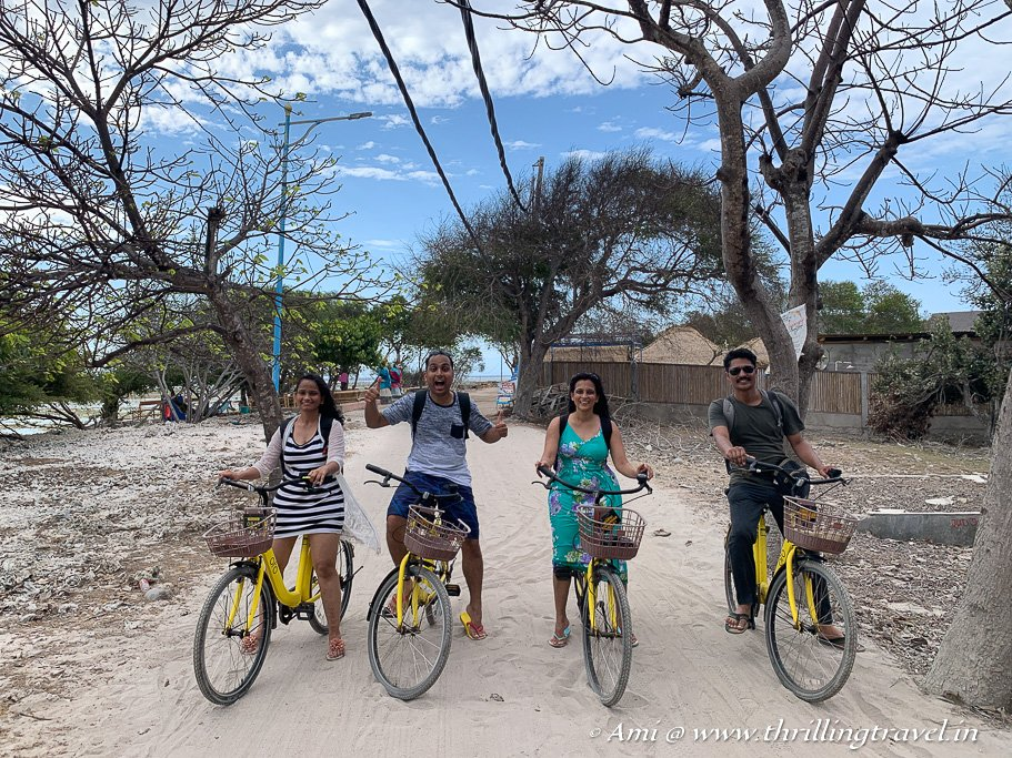 Cycling around the islands is a recommended activity on Gili Islands